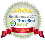 threebestrated.com seal for top 3 best business lawyers in Kamloops